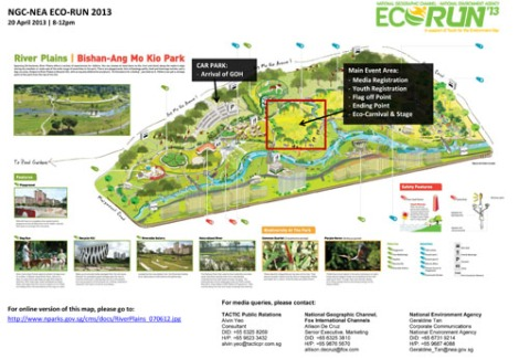 Media Schedule & Map of NGC-NEA Eco-Run 2013-1