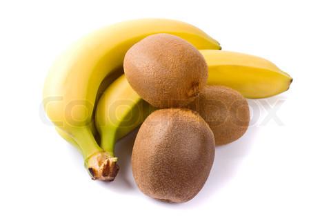 fresh kiwi and banana