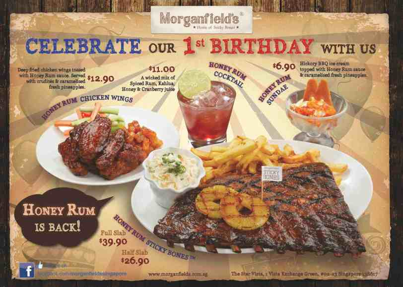 (3) Honey Rum Promotion Menu