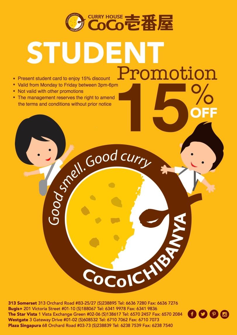 CoCoICHIBANYA StudentPromotion